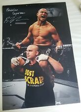 BJ PENN Huge Signed 20x30 PHOTO UFC MMA GLOVE POSTER AUTO Conor Hawaii Champ HOF