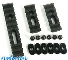 "Set 20mm Picatinny Weaver Rail 4""&2.5"" Section for Hand Guard Rifle Black New"