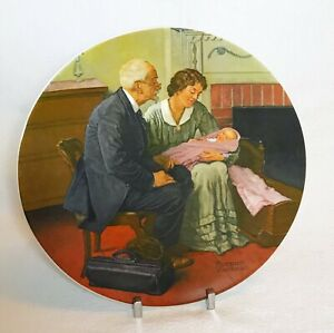 Vintage 1980 First Edition Norman Rockwell Cradle Of Love Collector Plate