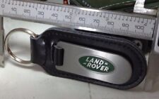 Green Land Rover Defender Range Discovery Quality Alloy Black Leather Keyring