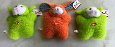 Lot of 5 - Zanies Pet Dog Toys Plush Cute Squeaky Berber Baby Bunny Smiling Toy