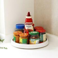 Rotating Condiment Storage Rack Kitchen Seasoning Organizer Sundries Collector