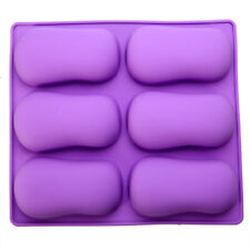 Oval Cake Mold Soap Mold Silicone Mold For Candy Lattice Ice Tray Handmade Craft
