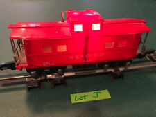 American Flyer Lines S Train 630 Red w/Black Base Lighted Caboose w/Link Lot J