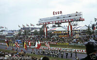 LE MANS DUNLOP CURVE VILLAGE SCOREBOARD PHOTOGRAPH 1967 24 HOURS  ATMOSPHERIC