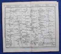 Original antique road map CHESHIRE, LANCASHIRE, WIGAN, PRESTON, Bowles c.1792