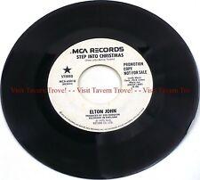 "Rare PROMO 1973 Elton John - Step Into Christmas 7"" 45"