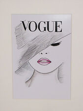 Art Deco Print+Mat Board+Foam Backing Ready to Frame-Vogue #504-NEW