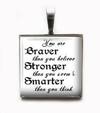 Winnie The Pooh Quote Charm Keychain Pendant Inspirational Gift Jewelry