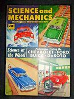 Science and Mechanics 1952 Chevrolet Styleline Ford v-8 Buick Roadmaster DeSoto