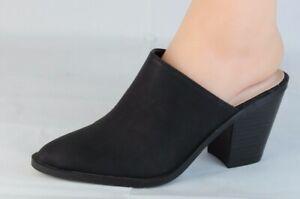 Tahari Wynda women's mules shoes black heel slide