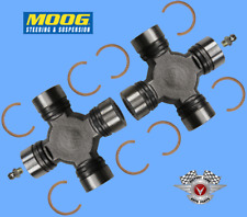 2 Premium Driveshaft Universal Joint Front Rear Moog Greasable