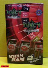22 / 12 / 6 / 2 Stück JUICY Double Wraps BLUNTS - WHAM BAM - Zigarrenumblatt