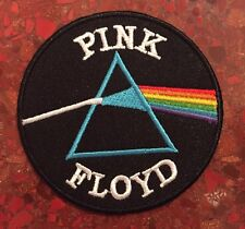 "Pink Floyd Logo Embroidered Patch Iron On 3"" Dark Side Of The Rainbow Prism NEW"