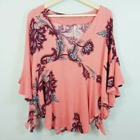 FREE PEOPLE |  Womens Maui Wowie Print Top New [ Size XS or AU 8  / US 4 ]
