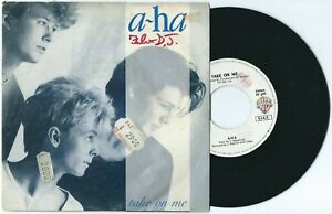"7"" A-HA Take on me/And you tell me (Warner Bros 84 ITALY) silver cover RARE VG"