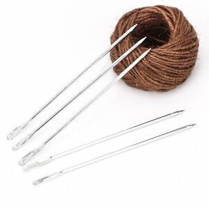 5PC Metal Needles Burlap Sack Bag Packing Curved Tip Stitching Sewing Tool Craft