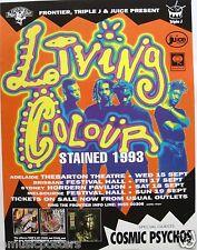 """Living Colour """"Stain Tour 1993"""" Original Australian Concert Poster-Group & Dates"""