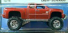 Hot Wheels 2015 Heritage Chevy Silverado Red 4x4 Truck 1:64 CFN54 DMG Card