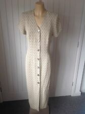 VINTAGE REPRO 1940s WARTIME WW2 STYLE TEA DRESS SIZE UK 10 LADIES REVIVAL