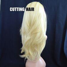 Beautiful Layers Light Blonde Long Straight 3/4 Wig Hairpiece Half Wig 043