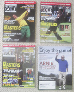 """2001-04--""""THE MASTERS""""--GOLF MAGAZINES--LOT OF 4-- NMT"""