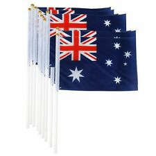 8 Pack - Mini Australian Aussie Flag Australia Day Oz Handheld 21cm x 14cm