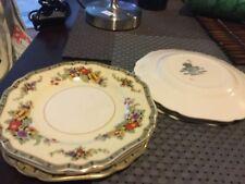 6 antique John Maddock Minerva pattern 15.5cm diameter porcelain butter dishes