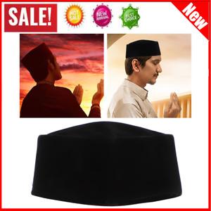 Mens Islamic Skull Cap Muslim Prayer Mosque Velvet Hat Topi Kufi Head Wear 59cm