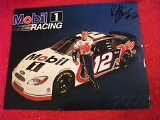 Jeremy Mayfield Mobil Ford Taurus 2000 signed original 8 x 10 promo photo