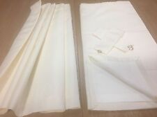 Static Caravan Curtains in a stunning Cream satin Jaquard,fully lined 45w x 49L