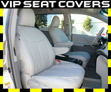 2017 Toyota Sienna Clazzio 8 Passenger All PVC Light Gray Seat Covers