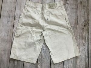 Levi's Cargo Shorts Youth Size 14 Relaxed Fit Khaki Levi Strauss Levis Boys