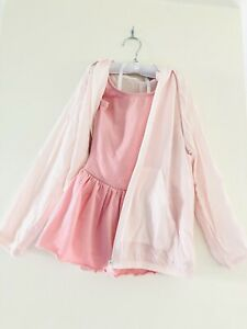 As New Girl's Ballet Dress In Size 4 + New With Tag Pink Thin Hood Jacket