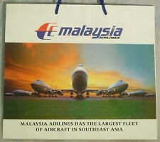 MALAYSIA airlines cardboard bag as poster 747 400 & 737 fleet advertising ax