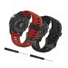 MoKo Garmin Fenix 3/Fenix 5X Watch band, Soft Silicone Replacement [2 Pack] Band
