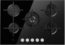 WHIRLPOOL Piano cottura 5 Fuochi incasso a gas 75 cm in Vetro Nero GOA7523NB