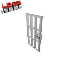 4 x [neu] LEGO Gittertür 1 x 4 x 6 mit Griff - hellgrau - 60621