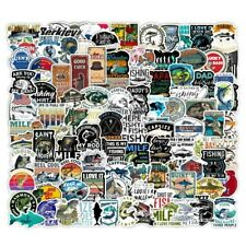100 Fishing Skateboard Stickers Bomb Vinyl Laptop Luggage Decals Dope Stickers