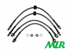 FORD FIESTA MK1 MK2 XR2 STAINLESS STEEL BRAIDED BRAKE LINES HOSES PIPES KIT OI