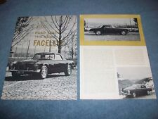 "1961 Facel Vega Vintage Road Test Info Article ""The New Facellia"""