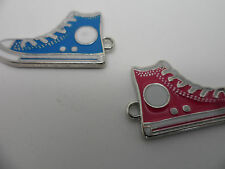 10  Enamel Converse,Sneakers,pumps Pendants,Charms,Approx:17x30x2 mm~2mm hole