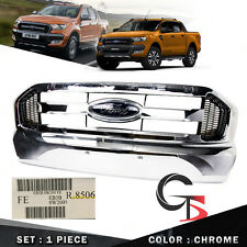 Fits Ford Ranger T6 Pickup 2015 2016 2017 Front Grill Grille Chrome Genuine Trim