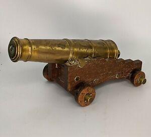 Edwardian Antique Gilt Bronze Desk Signal Canon Cannon Edward VII Crest