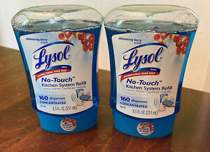 Lot Of 2 Lysol NO TOUCH Hand Soap Refill (8.5 ounce) Shimmering Berry NOS