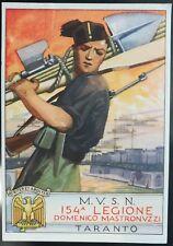 1930 - MVSN - 154 Legione Domenico Mastronuzzi - Taranto. Firma Paschetto