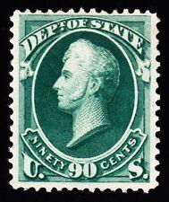 US O67 90c State Department Mint VF OG H w/ PSAG Cert SCV $1050