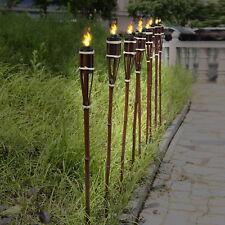 24 XXL Bambusfackeln Gartenfackel 120cm ROTBRAUN Bambus Fackel Garten Deko