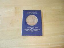 Carpenters' Hall 200th Anniversary Medal , Continental Bank & Philadelphia Conve