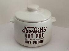 VTG Nesbitt's Hot Pot Hot Fudge Boil in the Bag West Bend USA Crock Stoneware